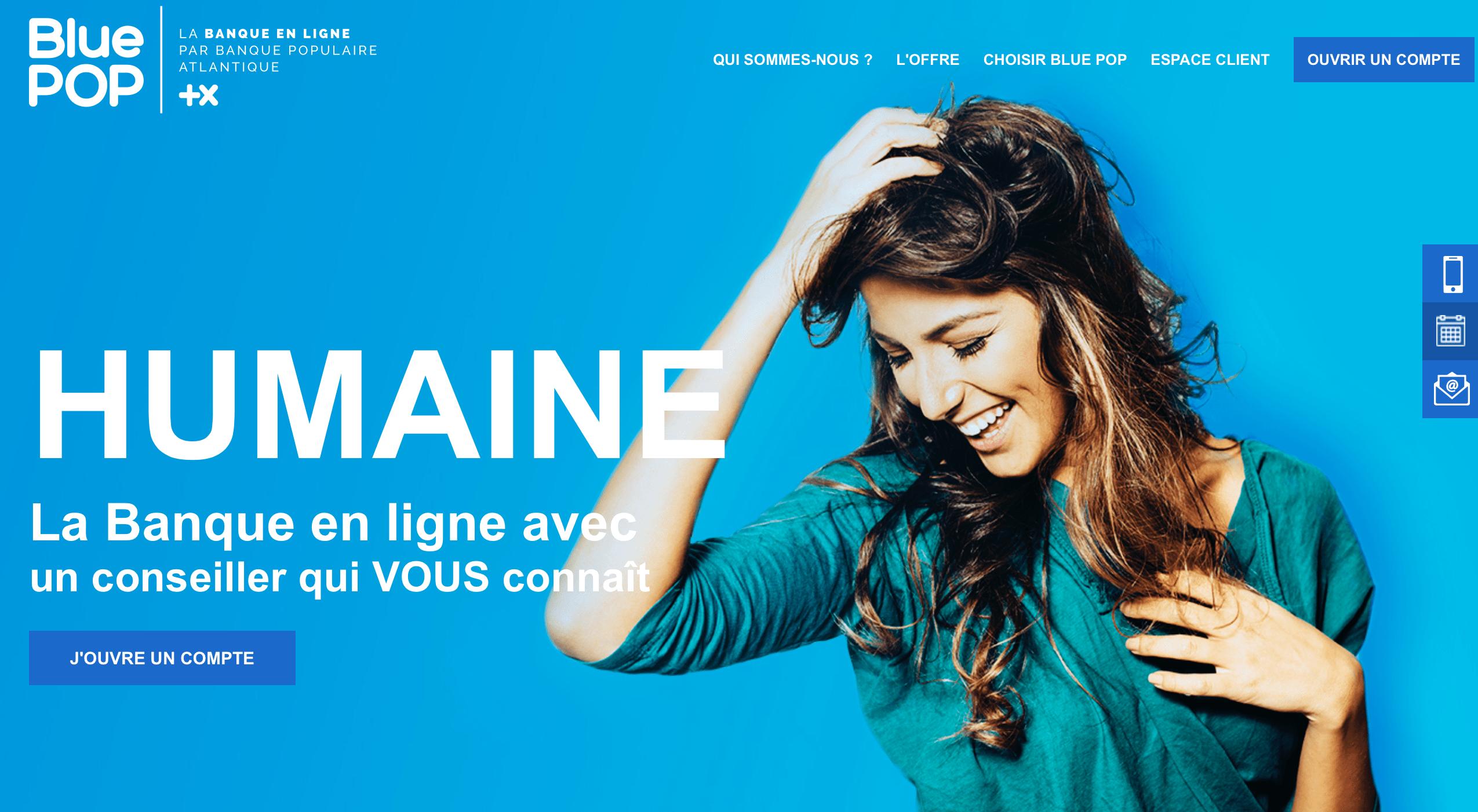 Blue Pop : la banque en ligne de la Banque Populaire Atlantique