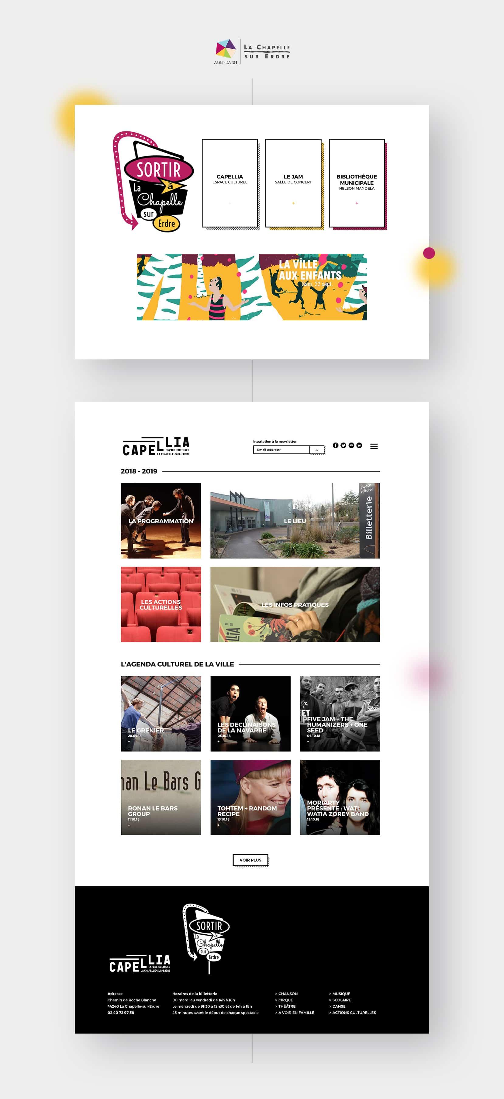 Site internet La Chapelle Culture