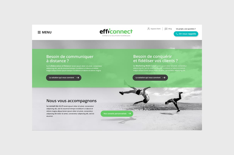 Réalisation site web : Effi'connect